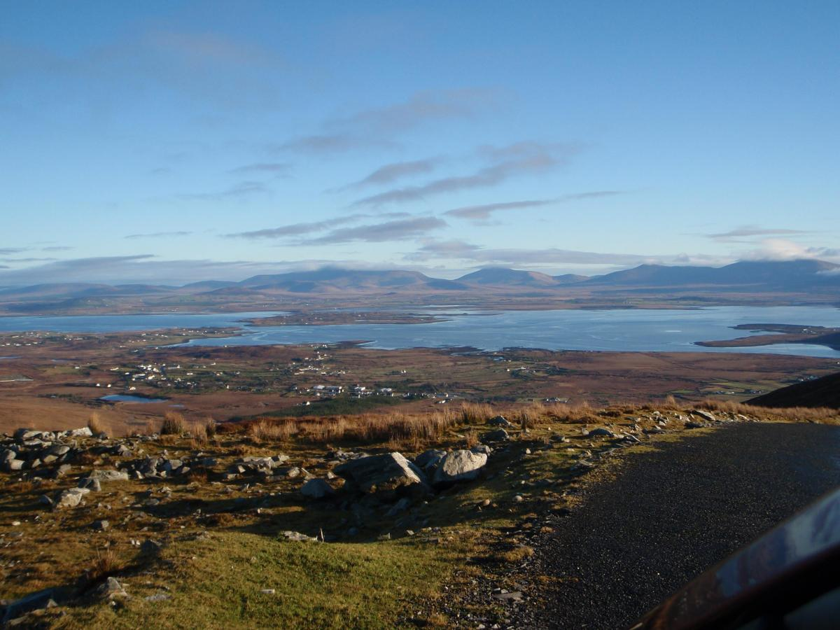 xAchill Island looking E towards the mainland from Mount Minaun