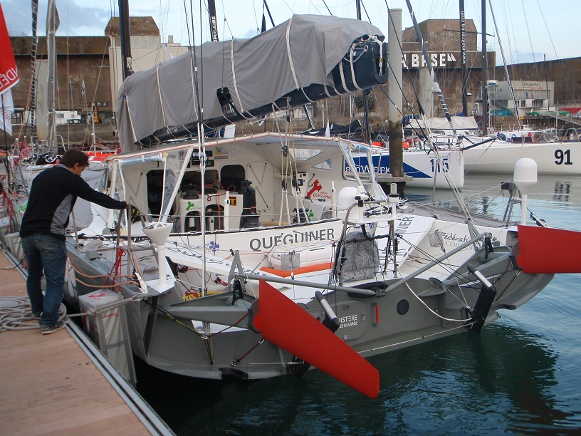 Lorient Base Tabarly  Better crew protection now.  ready for Vendée Globe