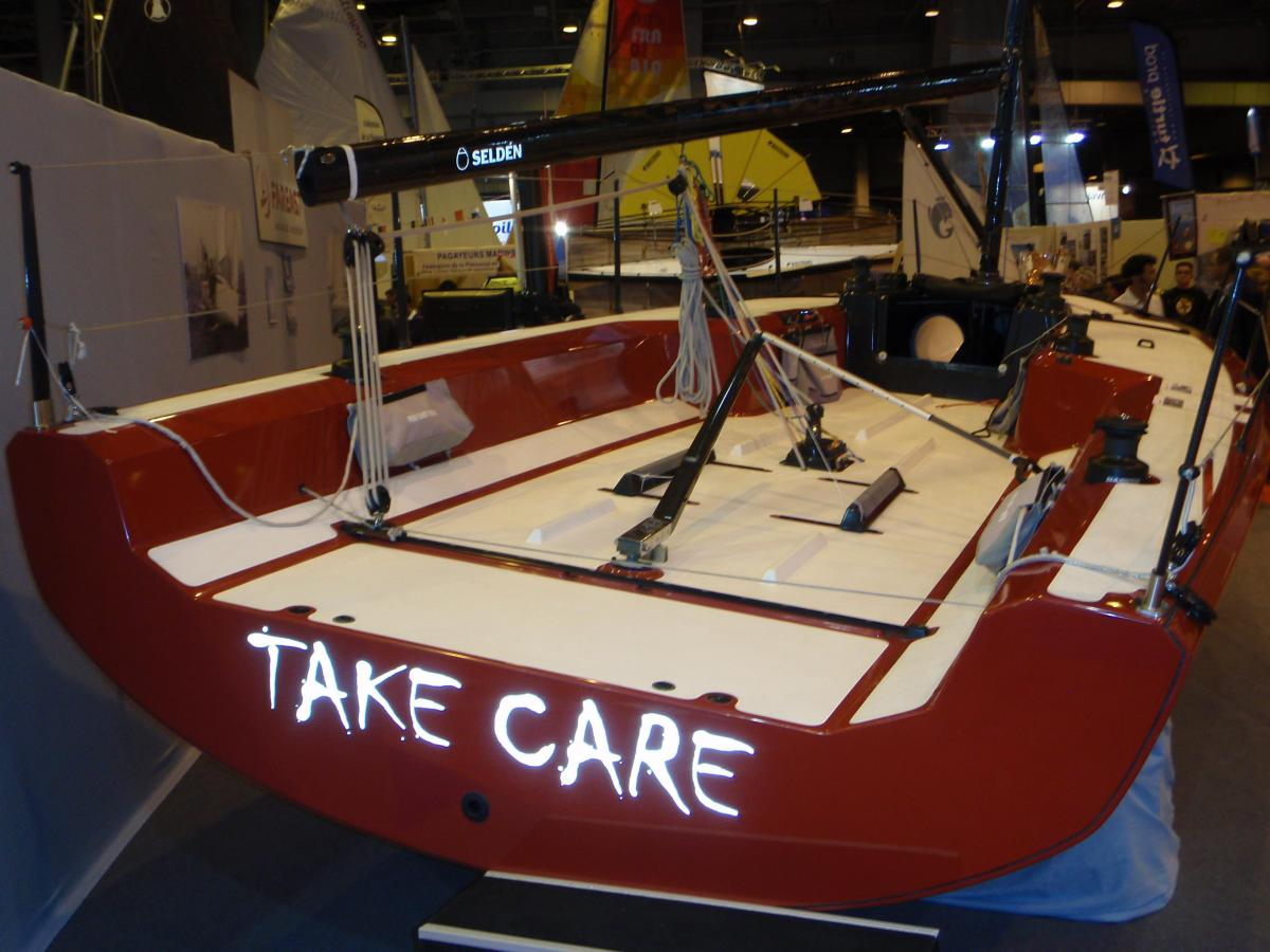 Salon Nautique - sailing sled...!